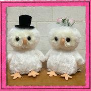 ウェディングドール フクロウ Wedding Doll 日本製 【ウェルカムドール/ウェディングぬいぐるみ/ウェルカムフクロウ/ブライダル/結婚祝い】