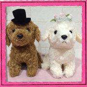 ウェディングドール プードル 犬 Wedding Doll 日本製 【ウェルカムドール/ウェディングぬいぐるみ/ウェルカムドッグ/ブライダル/結婚祝い】